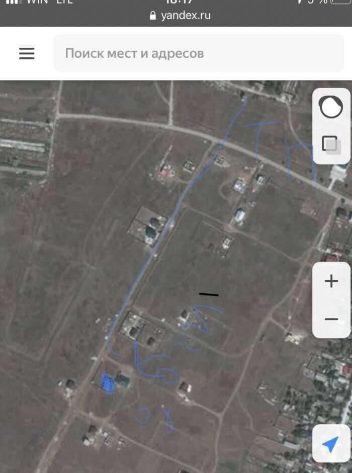 На карте обведён Наш дом и ТП