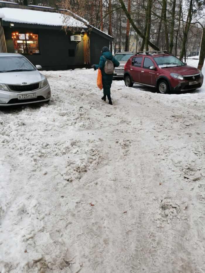 Неубирающийся никогда участок тротуара