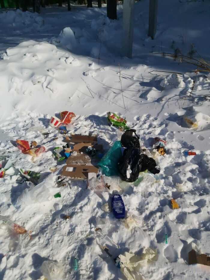 мусор на улицах села