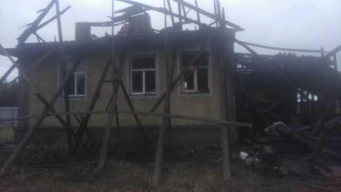 Сгоревший дом (вид 2)