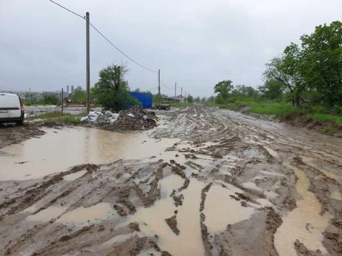 ул. Ратная во время дождя