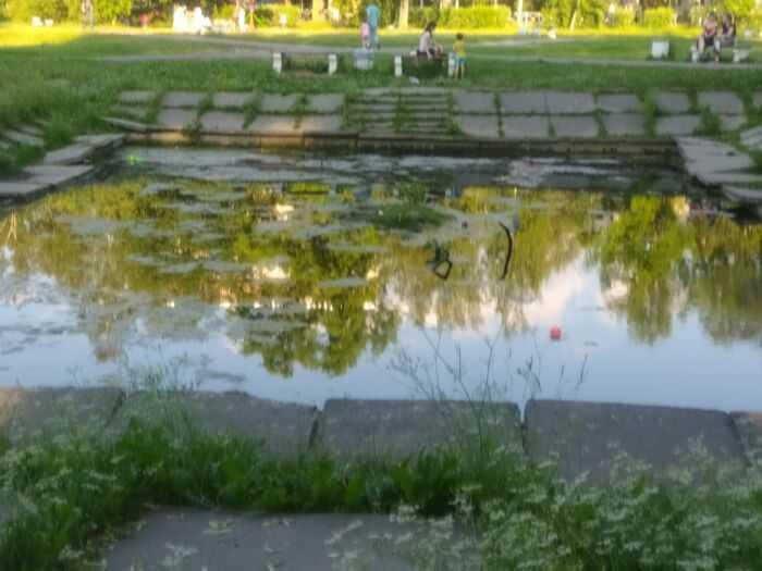 Это так называемый пруд с фонтаном.