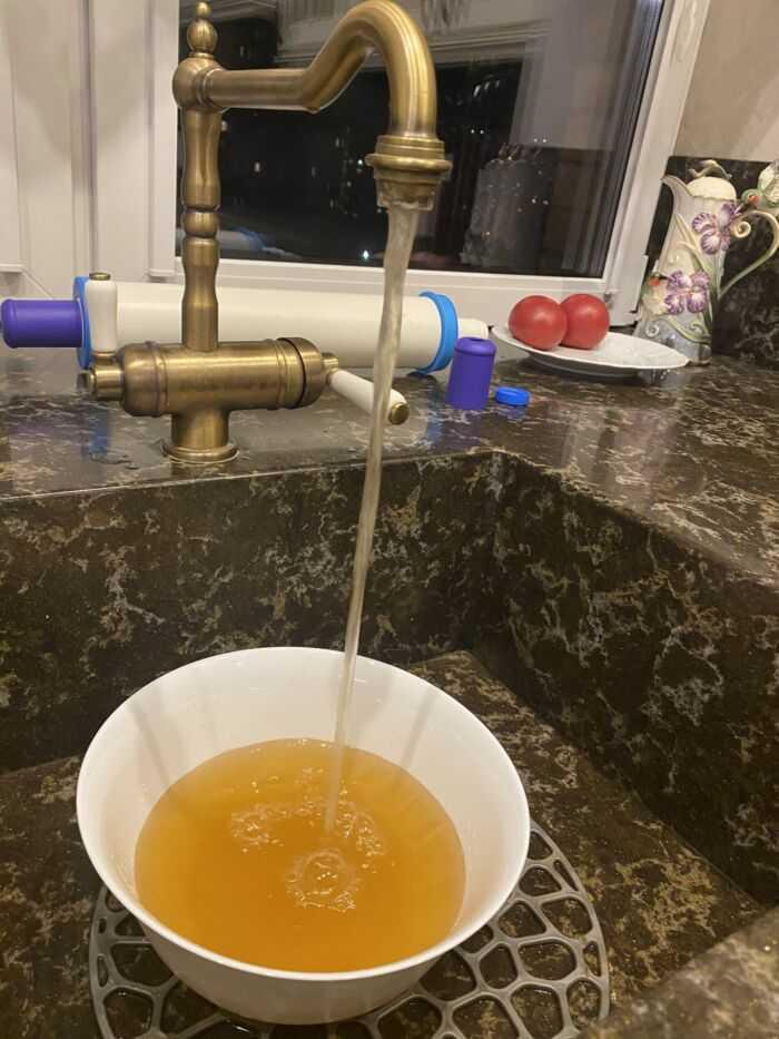 Ржавая вода Балашихинского Водоканала