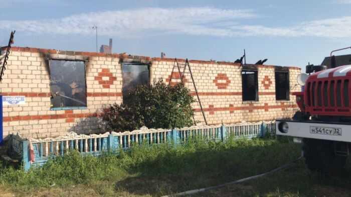 фото сгоревшего дома