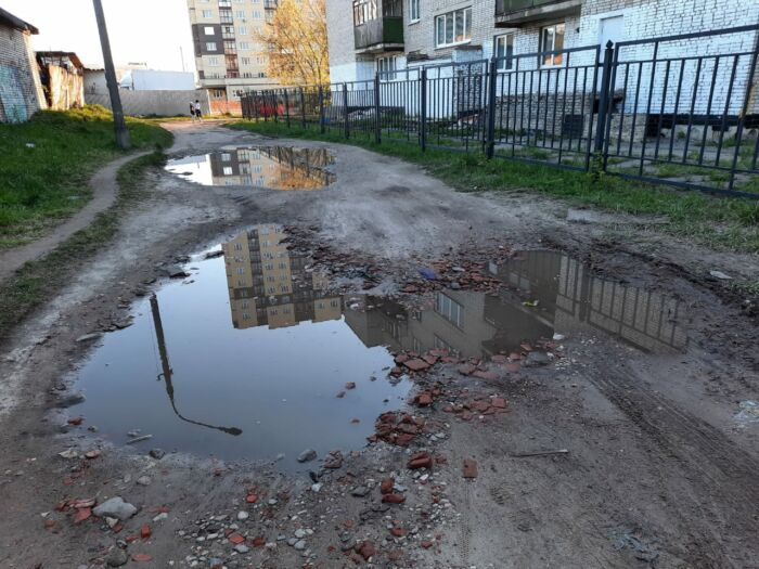 Плохой участок дороги напротив дома 12А по улице Чехова г. Старая Купавна