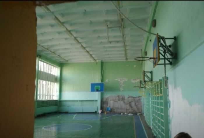 Спортзал школы.